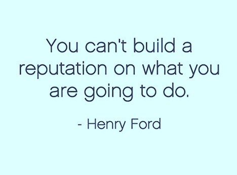 build a reputation quote